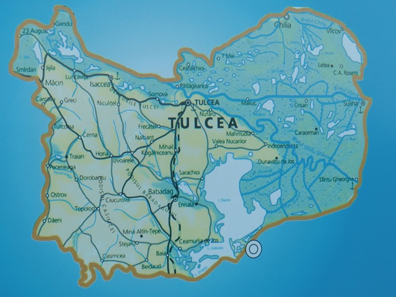 CIMG1404 Map Tulcea jurisdiction with Danube Delta