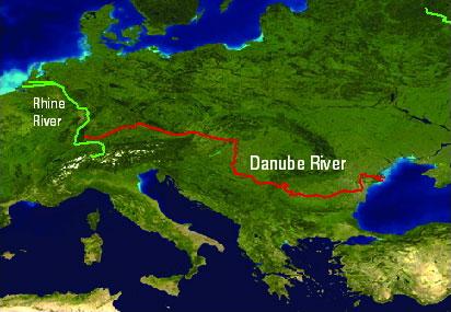 on danube river map